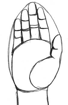 Middle Finger Up Color...